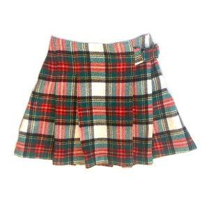 Carter's red/green/white plaid skirt/kilt